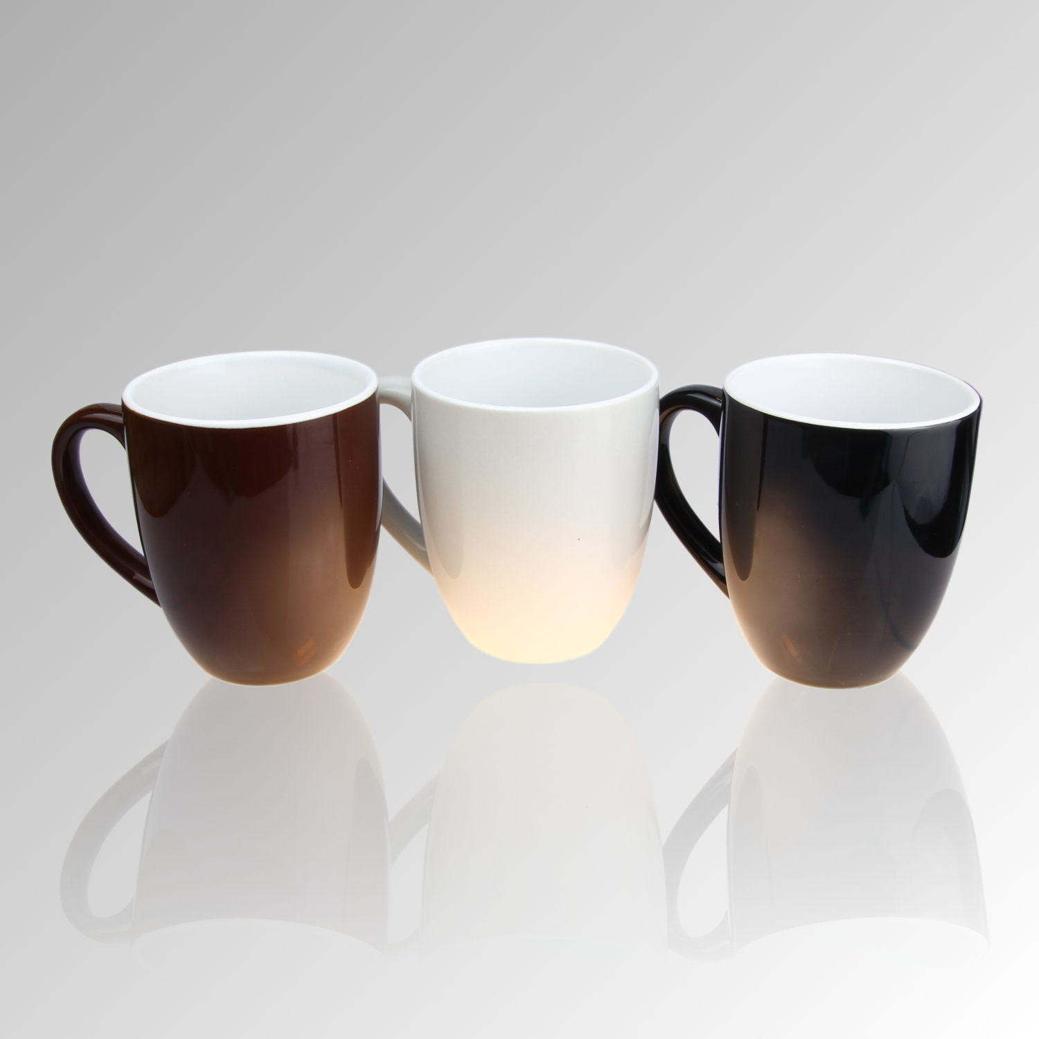 porzellan kaffeebecher henkeltasse tassen cappuccino set versch design ebay. Black Bedroom Furniture Sets. Home Design Ideas